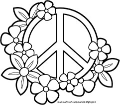 Small Picture Peace Sign clipart colouring page Pencil and in color peace sign