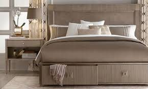 A.R.T. Cityscapes Contemporary King Storage Bedroom   Bed