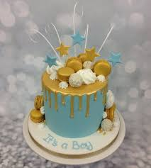 Bespoke Drip Cake For A Baby Shower The Cake Store