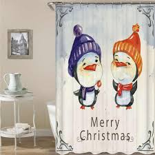kiwiberry merry pattern bathroom shower curtains polyester fabric waterproof and mildewproof bape cortina de ducha