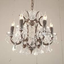 roman style vintage candle chandelier 6 lights bar antique crystal chandelier hanging lamp coffe bedroom led
