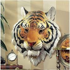 garden mile large wall mounted bengal tiger head wall sculpture animal head wall decoration wall plaque jungle animals garden ornament
