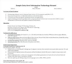Information Technology Resume Templates Doc Free Cover Letter
