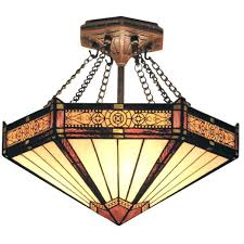 stained glass ceiling light filigree stained glass semi flush light stained glass ceiling lamp shades