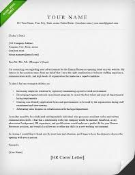 Human Resource Application Letter