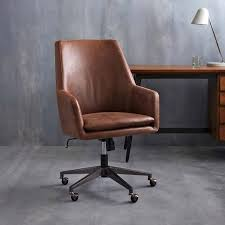 Brown Leather Desk Chair High Back Office West Elm Small20