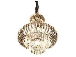 round chandelier black