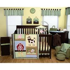 trend lab baby barnyard crib bedding set nursery