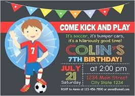 Soccer Party Invitation Template Bubble Birthday Invitations Themed 1st Assa Me