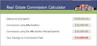 realtor commission calculator listing calculator the big difference 4 vs 6 realtors