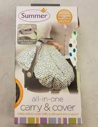 summer infant 2 in 1 carry and cover infant car seat cover white dots