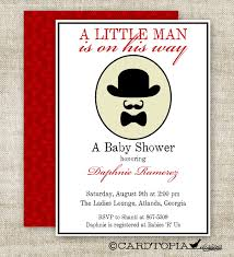 Fabulous Little Man Mustache Baby Shower Invitations Decorations Bow Tie And Mustache Baby Shower