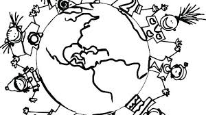 Children Around The World Coloring Pages Zatushokinfo