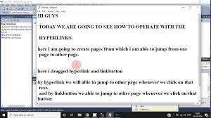 linkon and hyperlinks in asp net c