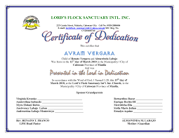 Baby Dedication Certificates Templates Child Dedication Certificate Samples Best Of Best S Of Baby 3