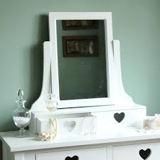 Sophia Heart Range  White Two Drawer Dressing Table, Mirror And Stool