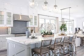kitchen blue glass backsplash. Plain Blue White Kitchen With Gray Glass Backsplash Throughout Blue