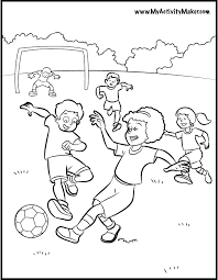 Soccer Coloring Pages At Getdrawingscom Free For Personal Use