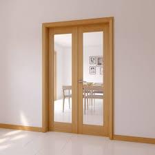 exterior hardwood door sets. 1 lite clear glazed internal french door set, (h)2030mm (w)770mm exterior hardwood sets n