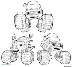 Blaze And The Monster Machine Coloring Pages Printable Blaze Unique