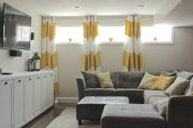 inspirating of small curtains for basement windows bedroom curtains gallery