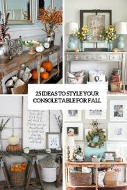 console table for fall