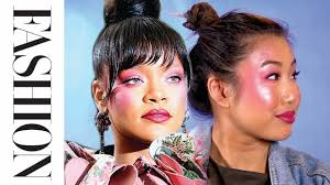 makeup tutorial rihanna s 2017 met gala look fashion magazine