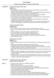 Service Planner Resume Samples Velvet Jobs