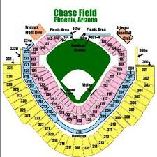 Chase Field Az Seating Chart Map Directions Seating For Chase Field In Phoenix Az
