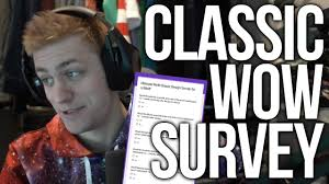 Ultimate Wow Classic Design Survey Sodapoppin Answers The Ultimate Wow Classic Design Survey