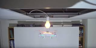 drone changes light bulb