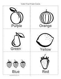 Just read on to find out how to teach numbers and to download your free. Color Fruit Flashcards Coloring Worksheets For Kindergarten Kindergarten Coloring Pages Fruit Coloring Pages