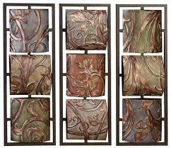 on metal wall art panels with leaf vine textures floral metal wall art panels