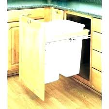 tilt out trash bin cabinet garbage under cans t corner with decor office diy can