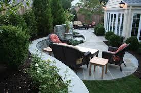 flagstone patio with retaining walls