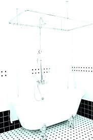 clawfoot tub curtain tub shower curtain liner shower curtain bathtub shower curtain rod stylish best tub ideas on clawfoot tub curtain rod how to make