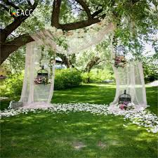 outdoor backgrounds. Laeacco Green Flower Tree Curtain Cage Wedding Grass Outdoor Photo Backgrounds Customized Photographic Backdrop For Studio-in Background From Consumer N