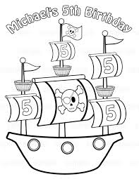 Printable Coloring Pages pirate coloring pages free : Pirate Ship Coloring Pages - GetColoringPages.com