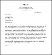 Professional Superintendent Cover Letter Sample Writing Guide