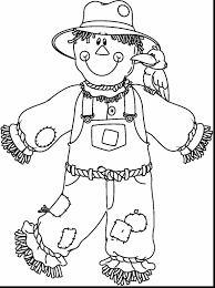 Small Picture wonderful scarecrow paper doll coloring page with scarecrow