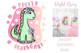 Minnie mouse free download png image from cartoon minnie mouse. Dinosaur Sublimation Design Graphic By Digital Gems Creative Fabrica Design Sublime Graphic Design