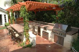 Rustic Outdoor Kitchens Kitchen Outdoor Kitchen Design Intended For Top Ideas Outdoor