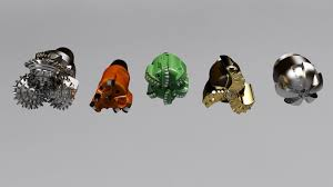 butterfly drill bit. drill bit set 3d model max obj 8 butterfly