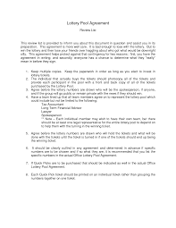 lottery pool contract printable documents lottery pool contract