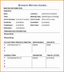 Example Of A Business Meeting Agenda 14 Reinadela Selva