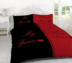 my space your space duvet set quilt cover with pillow cases bedding sets black white king co uk kitchen home