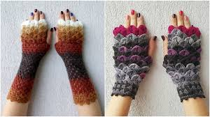 Dragon Scale Fingerless Gloves Pattern Free Custom Inspiration Ideas