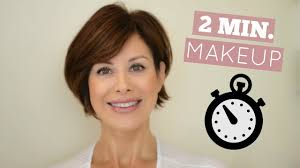out the door in 2 minutes makeup routine