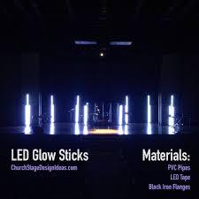 Awesome Led Lights Led Glow Sticks Stage Lighting Design Church Stage Design