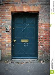 red front door on brick house. Front Door Of A Red Brick House On D